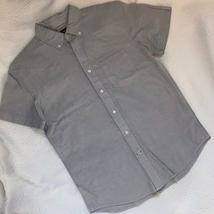 American Eagle size small S button up gray